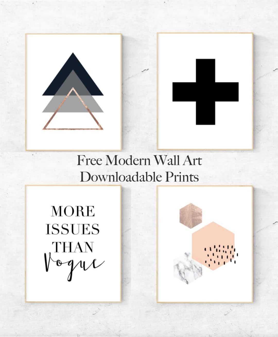 Modern downloadable printables