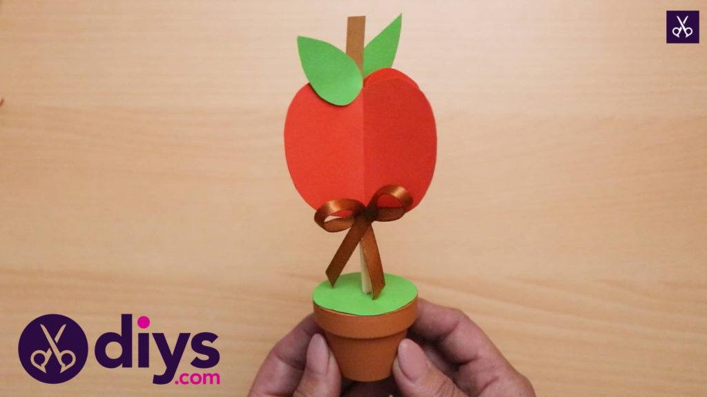 3d paper apple decor for fall