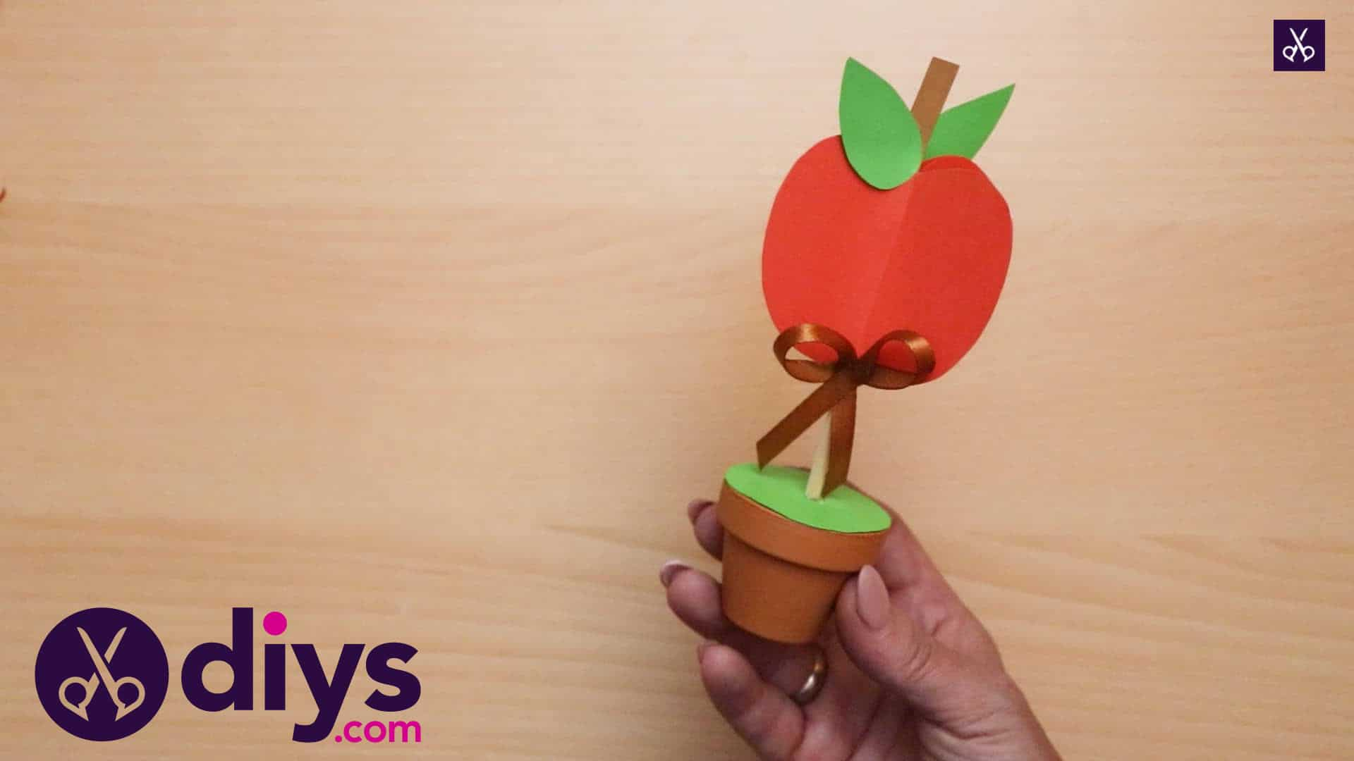 3d paper apple decor for fall faux