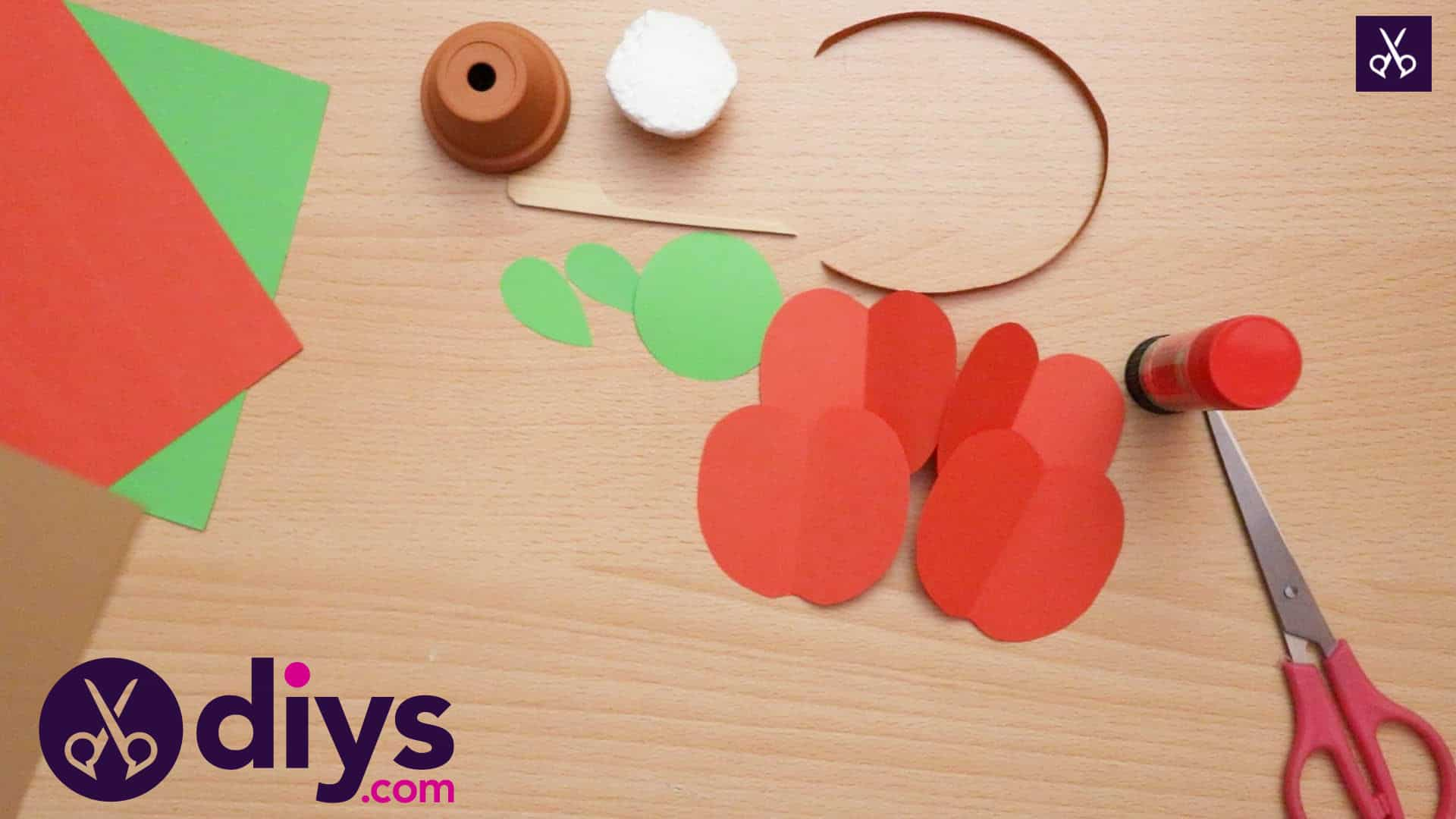 3d paper apple decor for fall fold