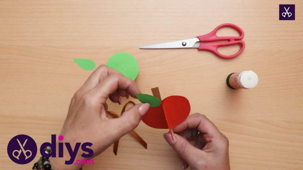 3d paper apple decor for fall form