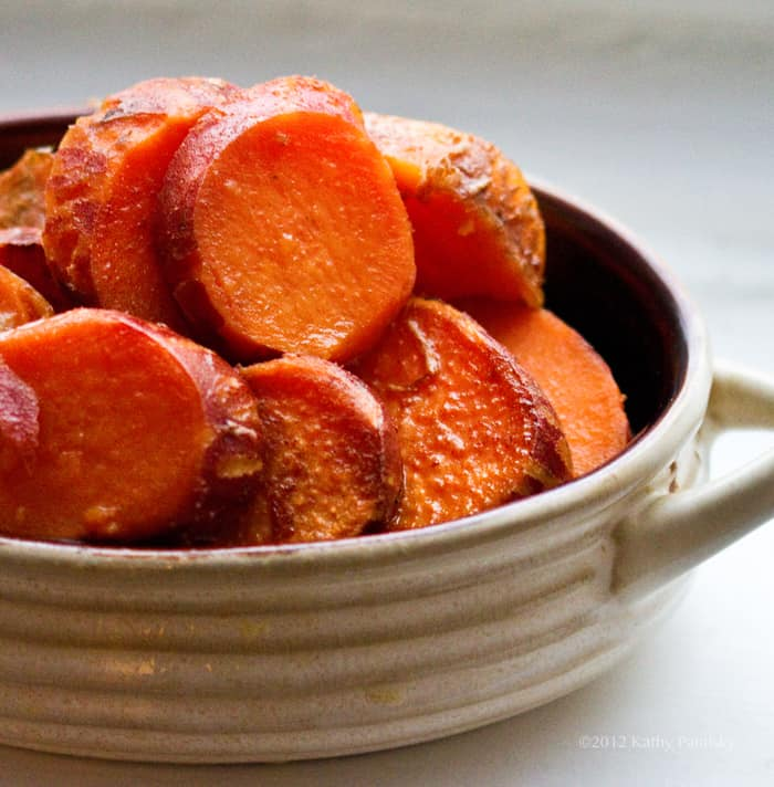 Baked vegan sweet potatoes with maple, cinnamon, and citrus
