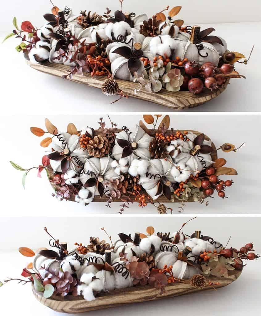 Beautiful dough bowl centrepiece