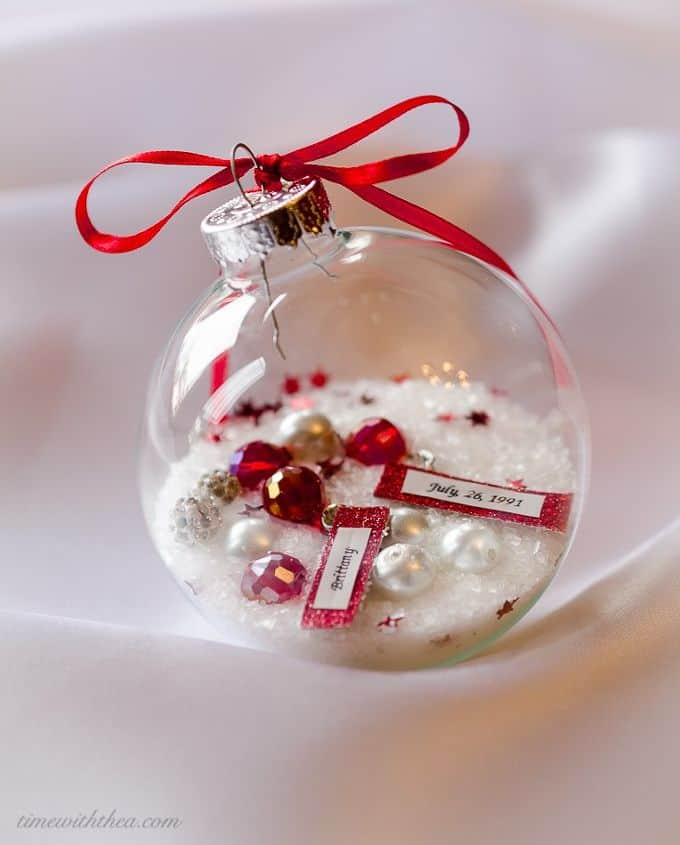 Beautiful personalized keepsake ornaments