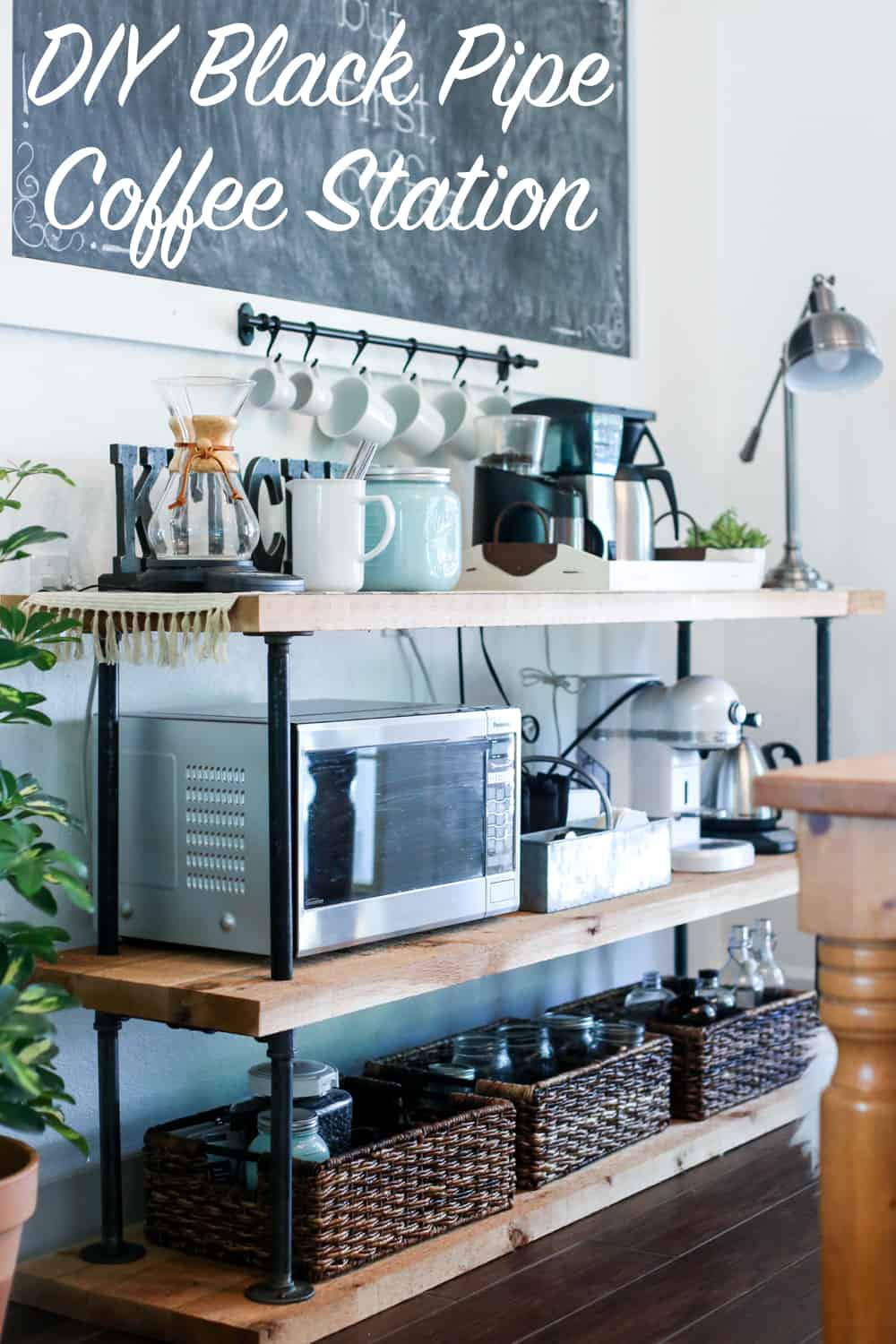 Black pipe coffee station diy