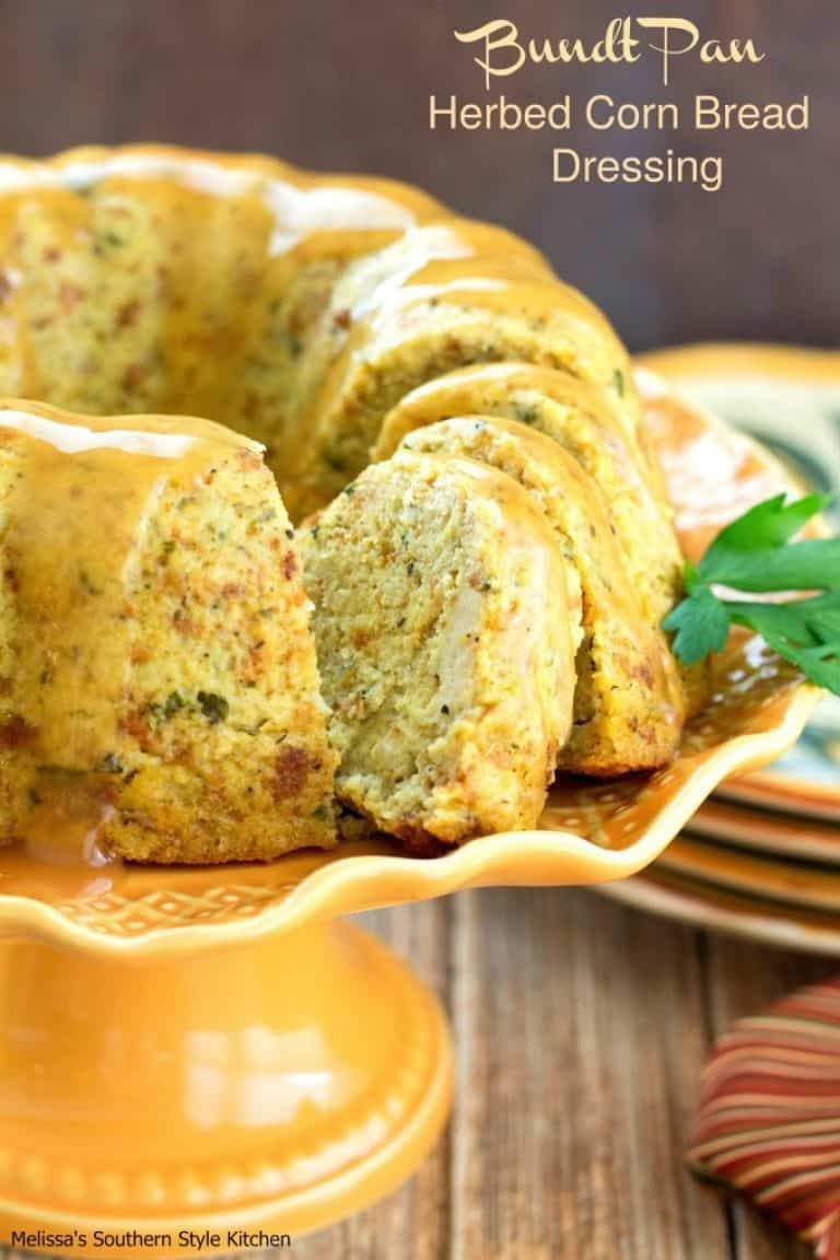 Bundt pan herbed cornbread thanksgiving dressing