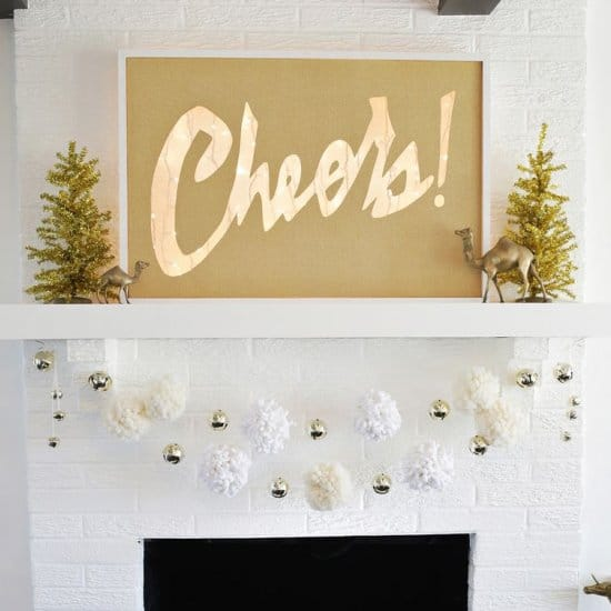Cheers! lightbox mantel marquee