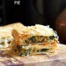 Chickpea spinach pie