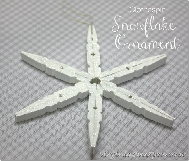 Clothespine snowflake ornament
