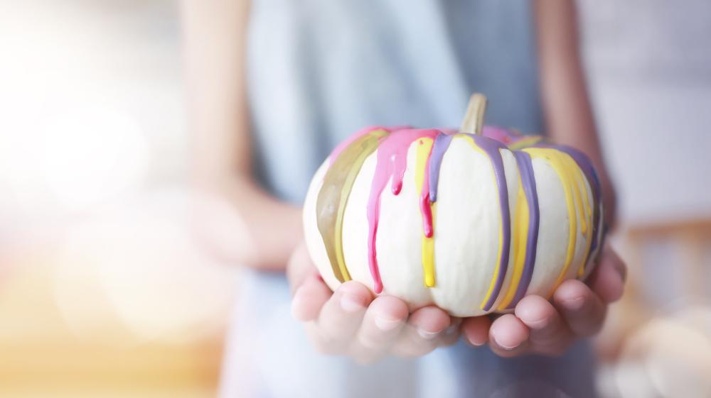 Colorful easy pumpkin painting