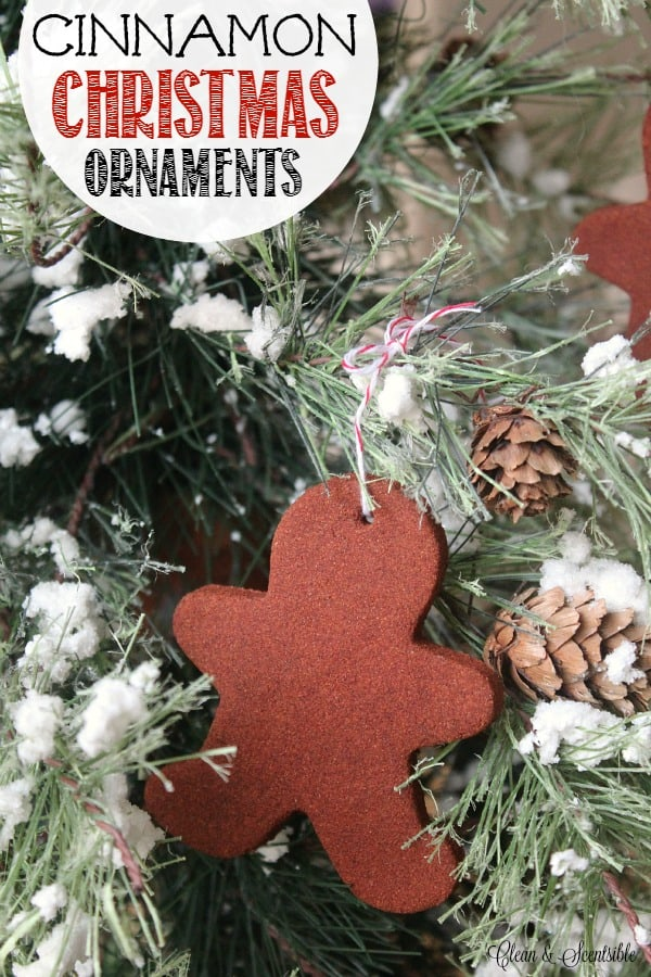 Cookie cutter cinnamon christmas ornaments