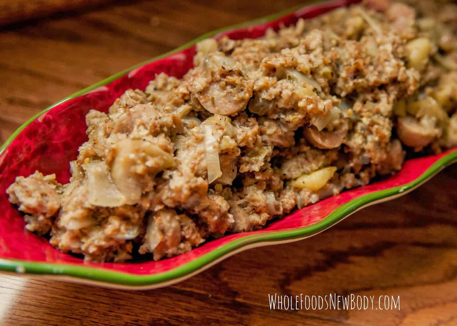 Crock pot apple sausage stuffing