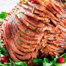 Crock pot honey glazed ham
