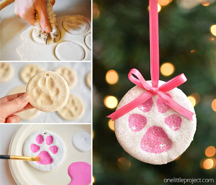 Custom paw print ornament
