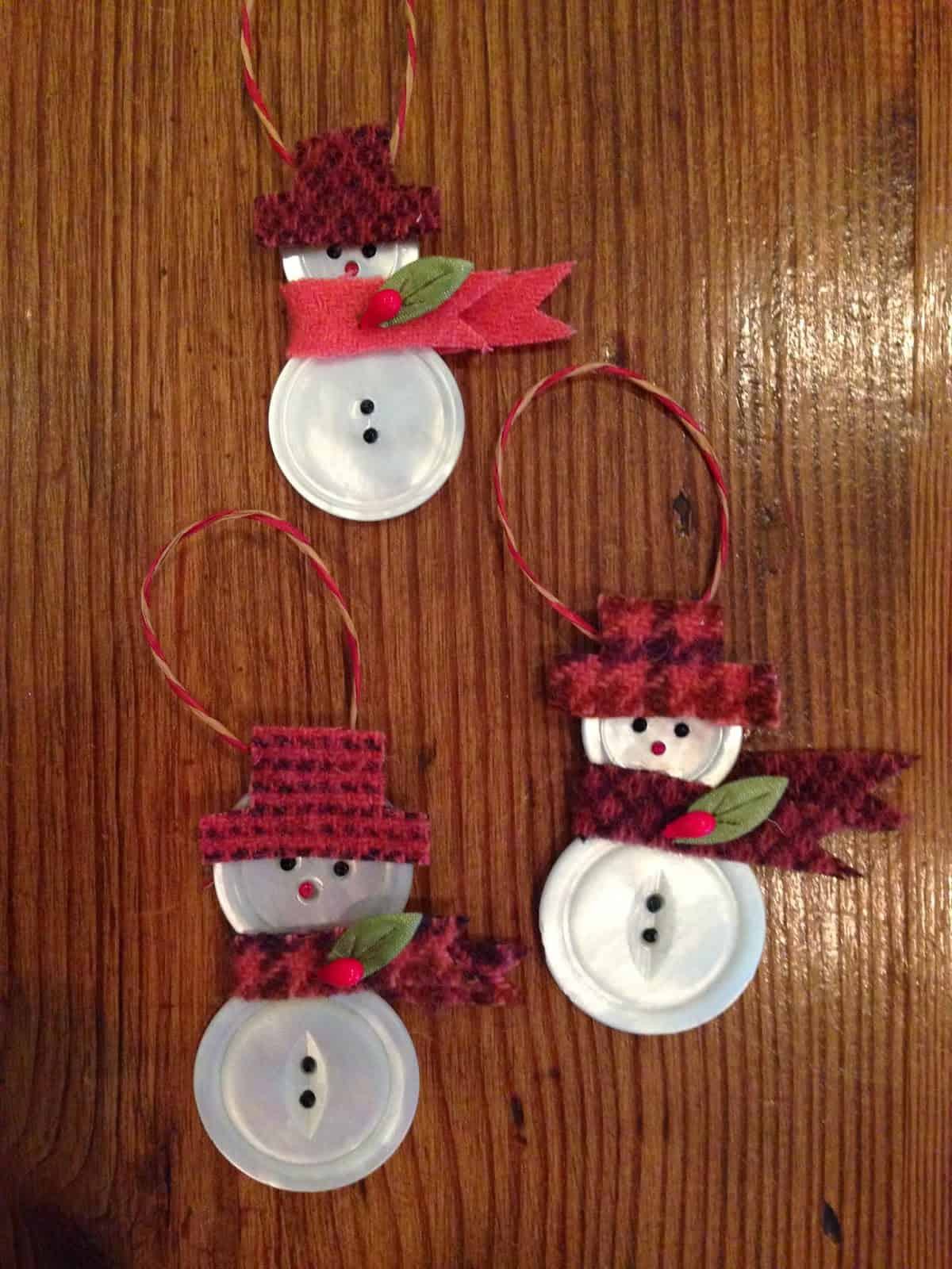 Cute button snowmen tutorial