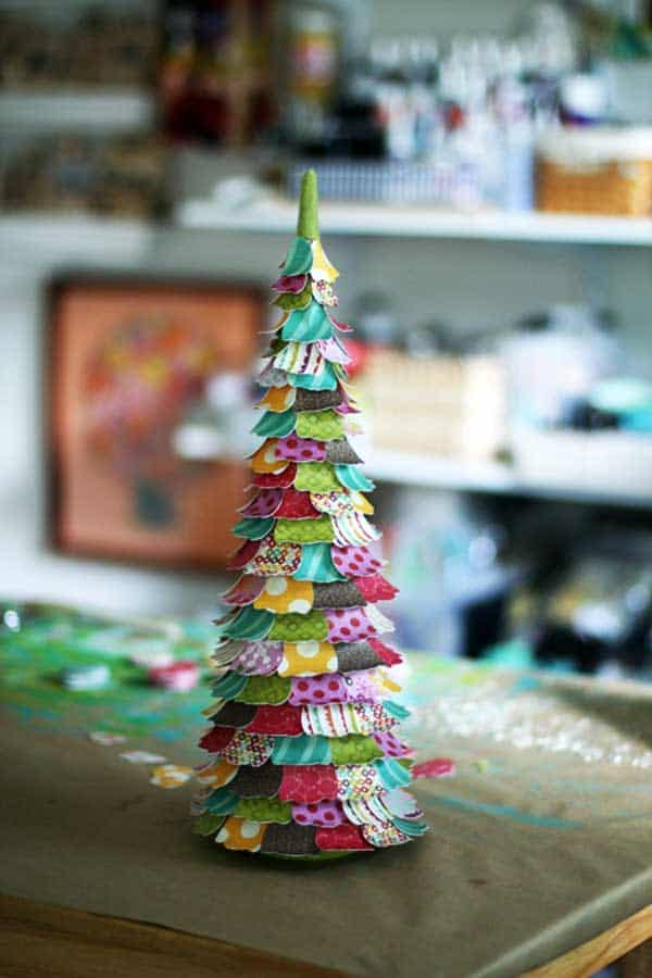 Cute craft paper christmas tree