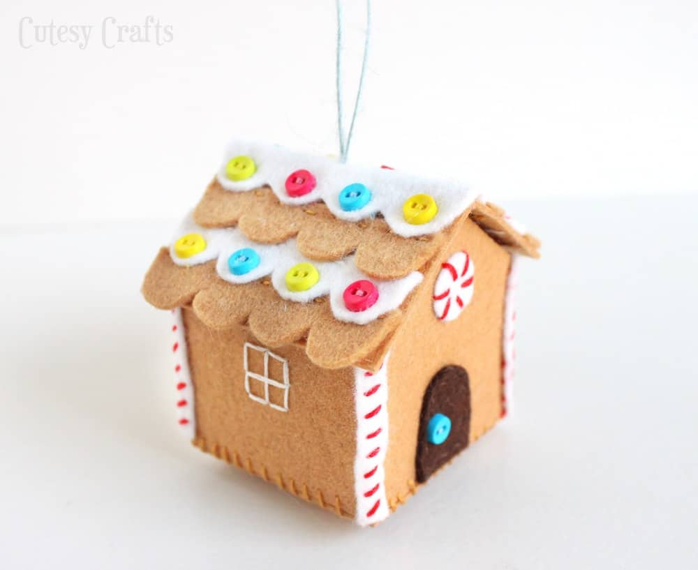 Cute felt gingerbread ornament