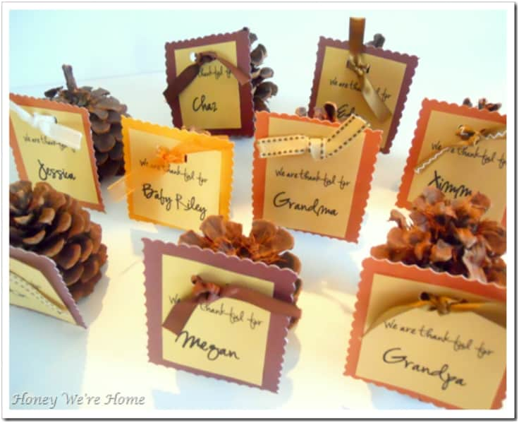 Cute pinecone place cards