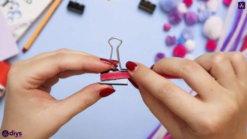 Diy binder clip card holder clip