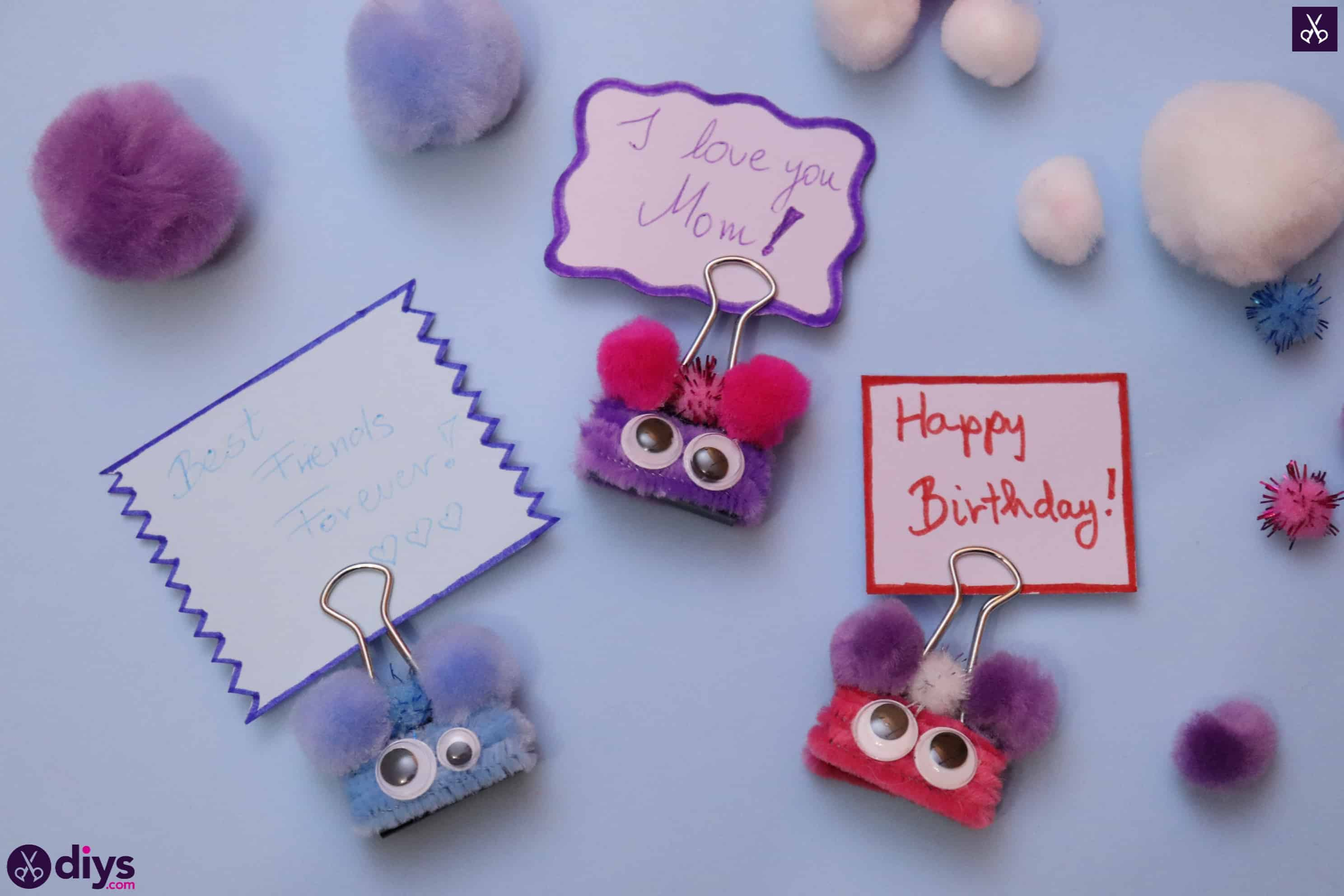 Diy binder clip card holder craft