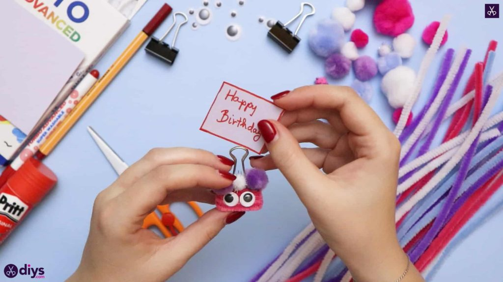 Diy binder clip card holder place card