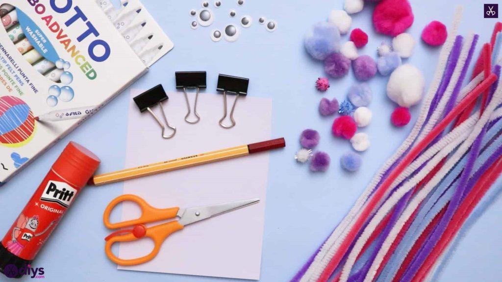 Diy binder clip card holder prepare materials
