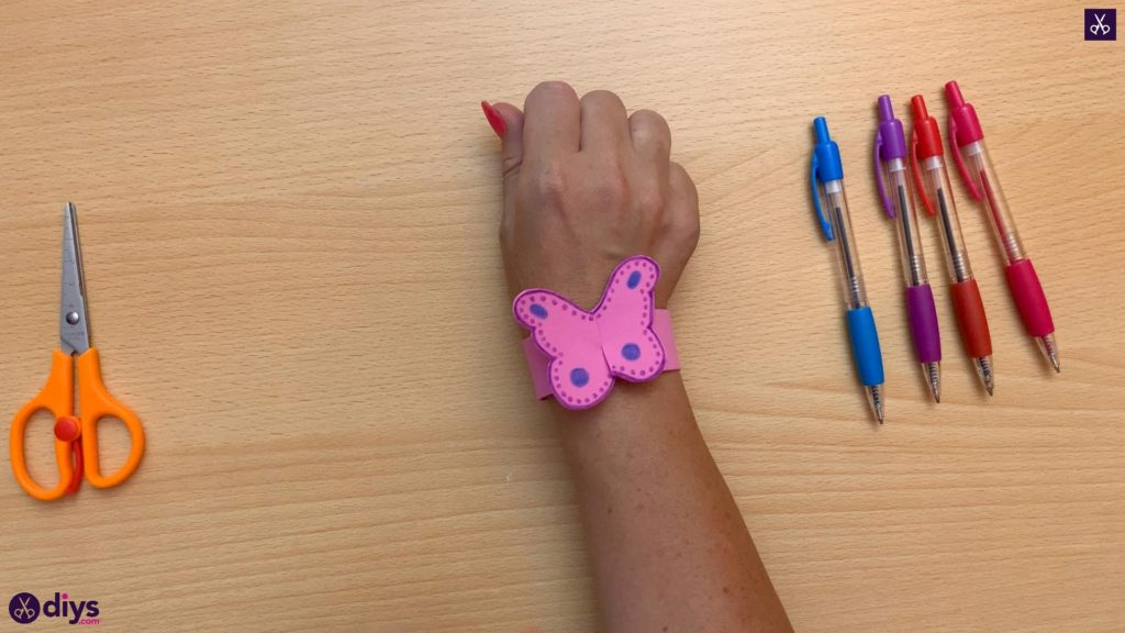 Diy butterfly bracelet for kids