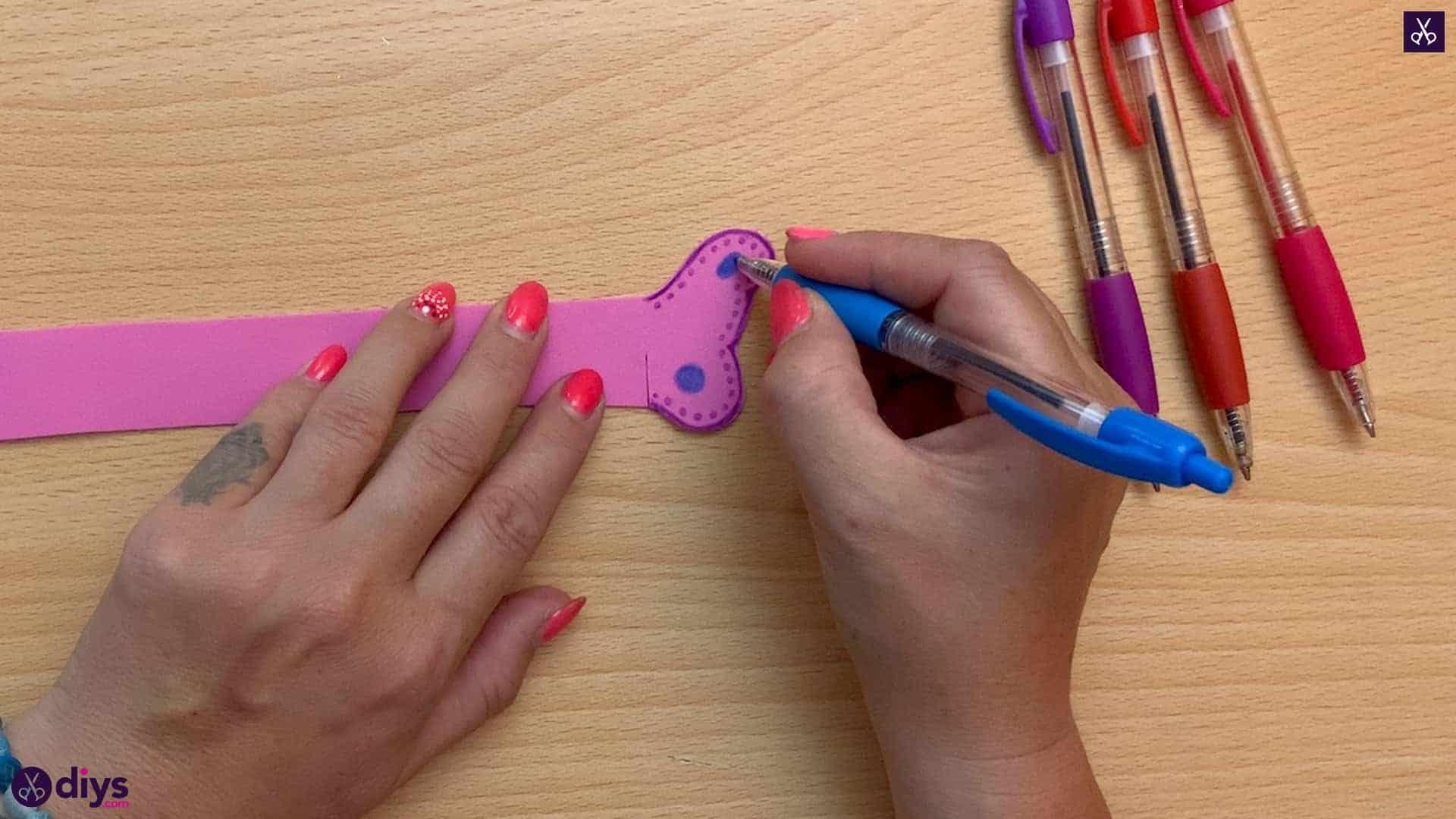 Diy butterfly bracelet for kids dots