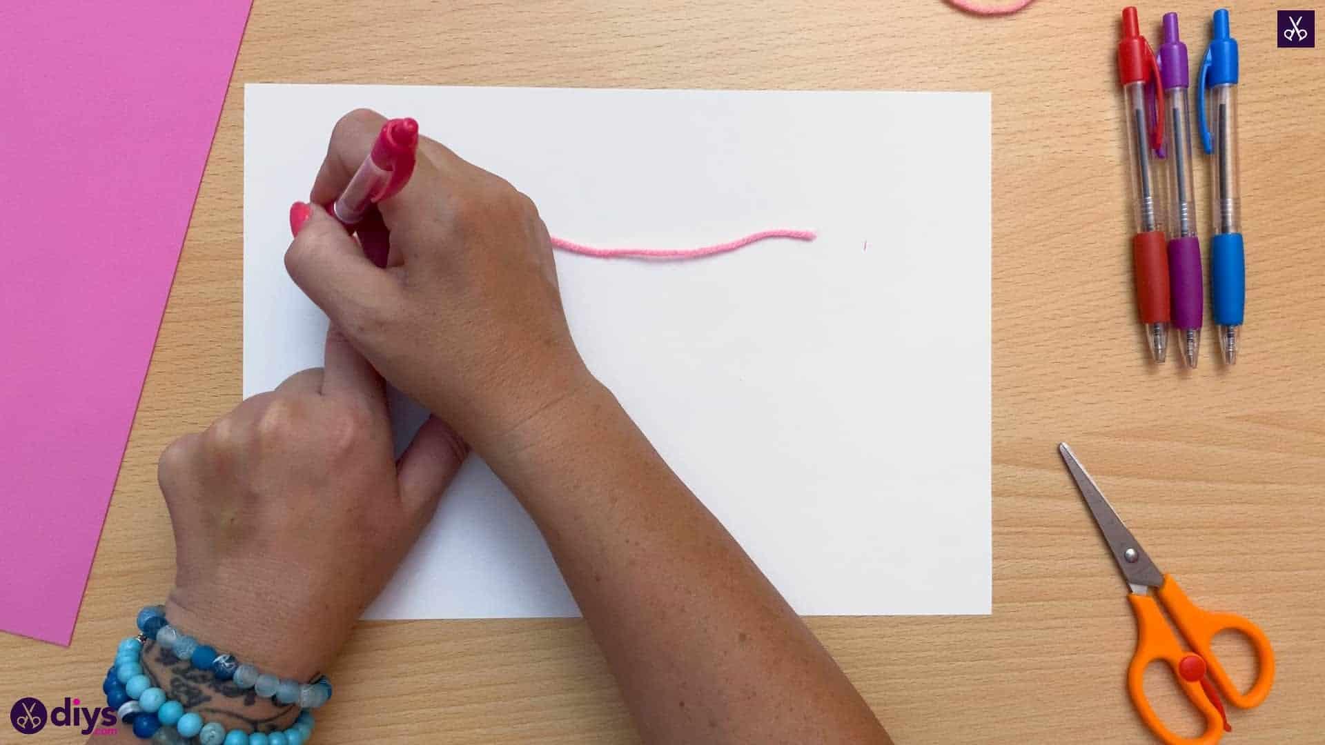 Diy butterfly bracelet for kids draw