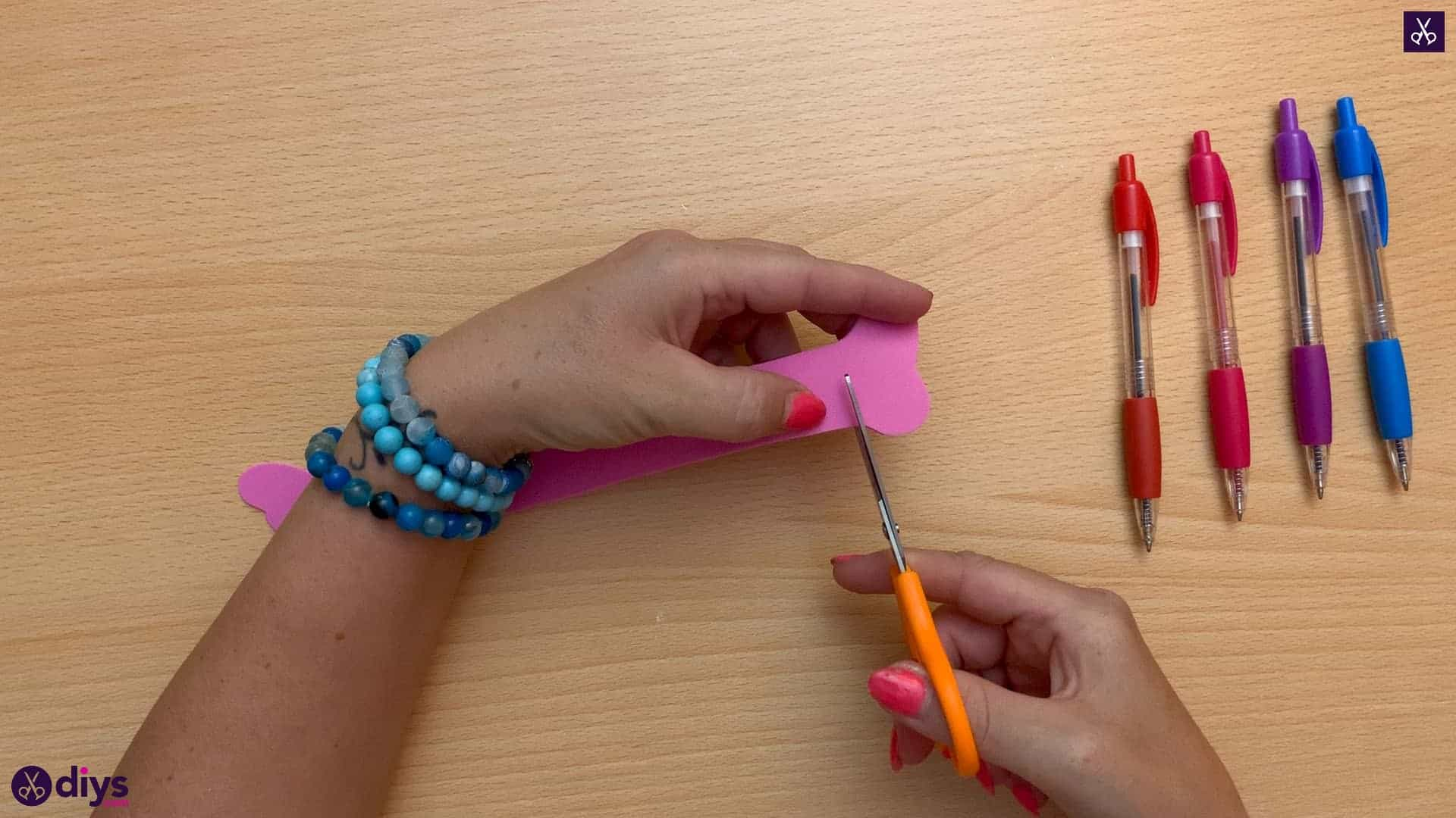 Diy butterfly bracelet for kids ends
