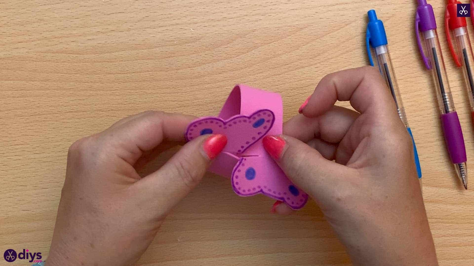 Diy butterfly bracelet for kids simple
