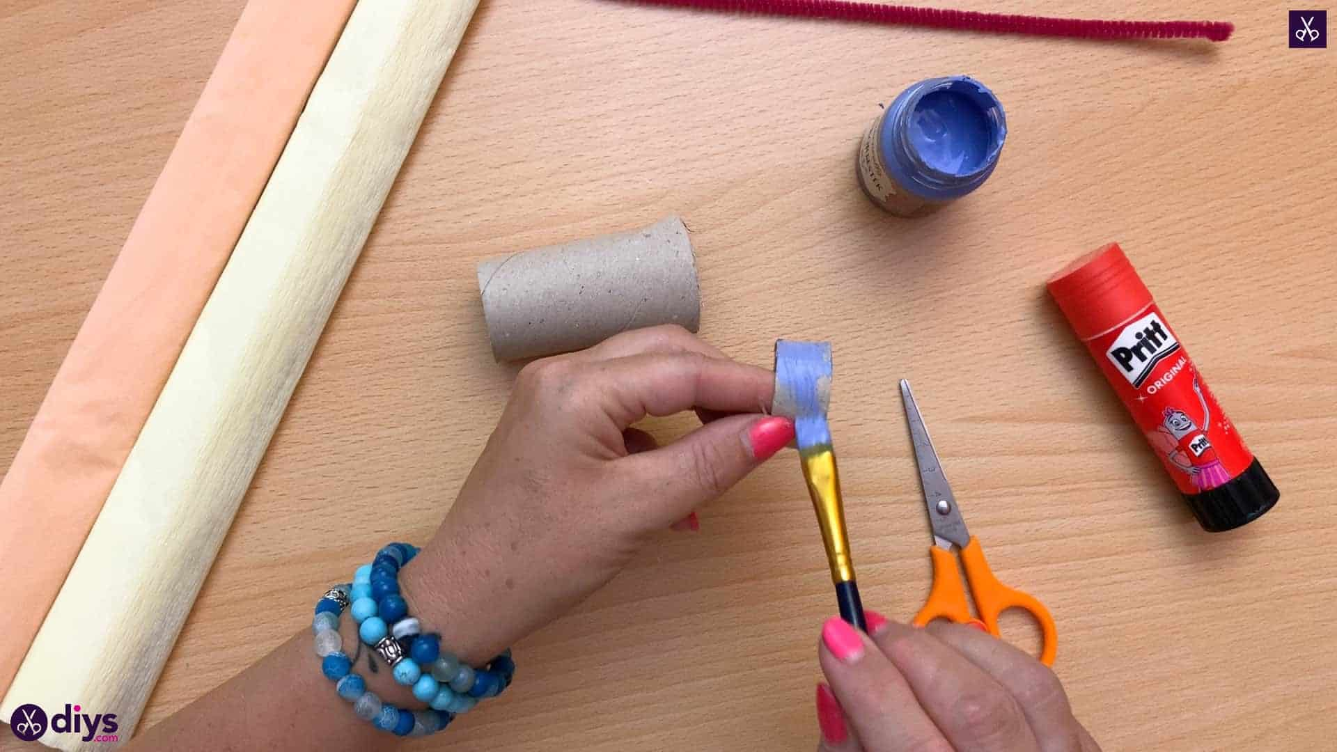 Diy butterfly napkin ring paint
