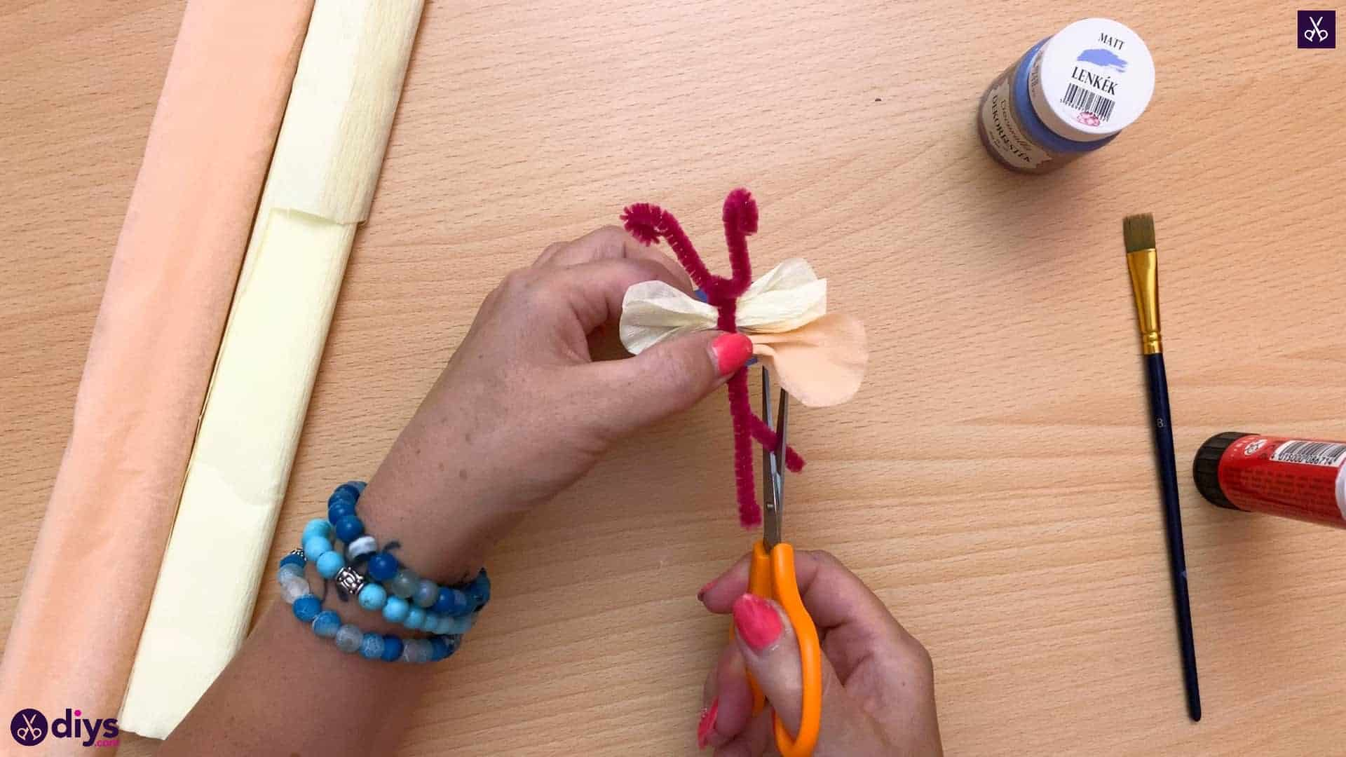 Diy butterfly napkin ring step 11