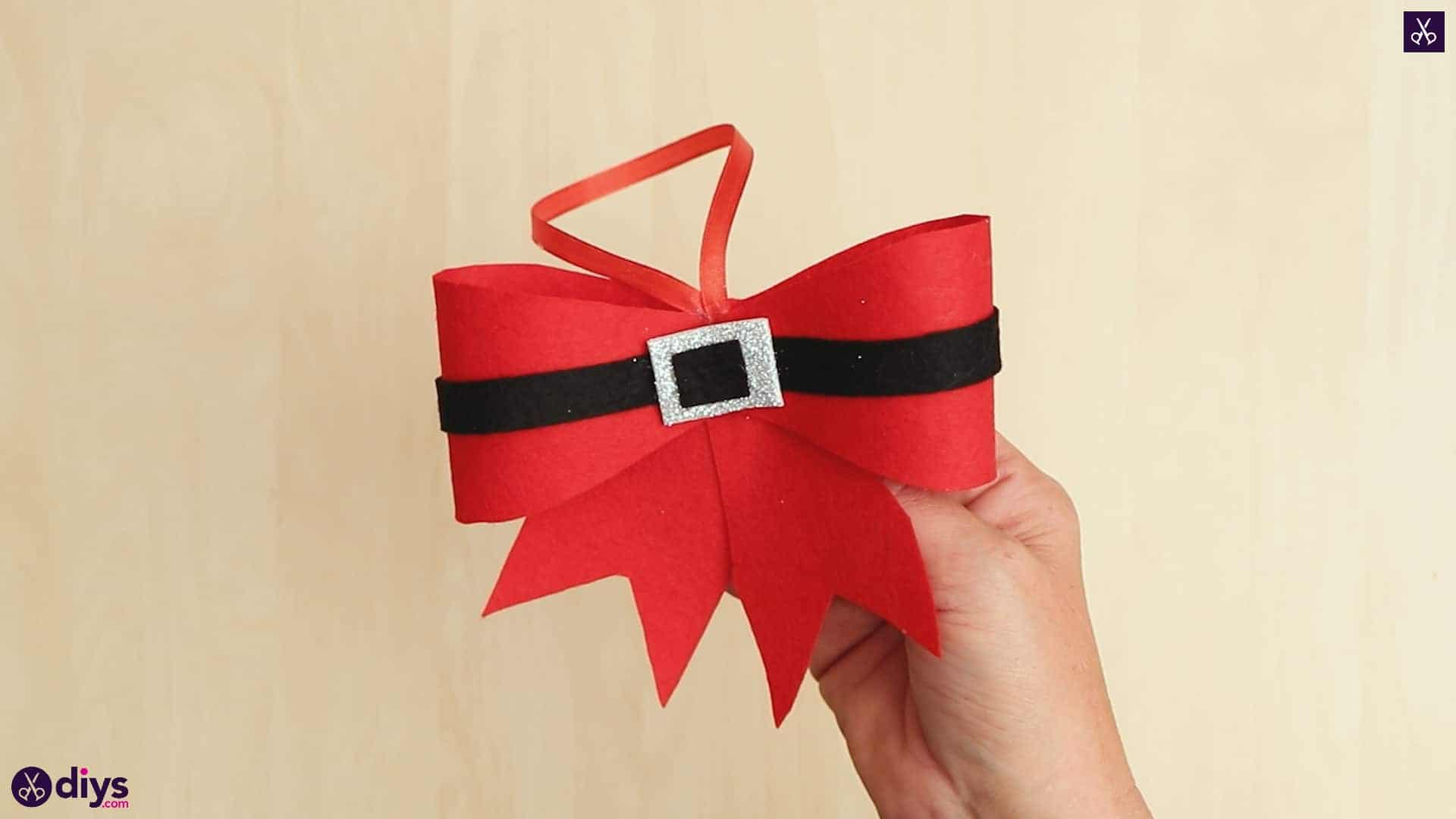 Diy christmas bow ornament esy craft