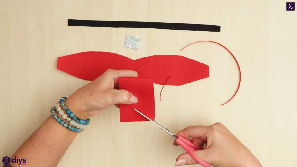 Diy christmas bow ornament step 5