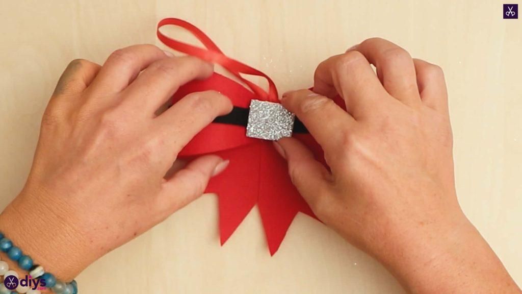 Diy christmas bow ornament step 9
