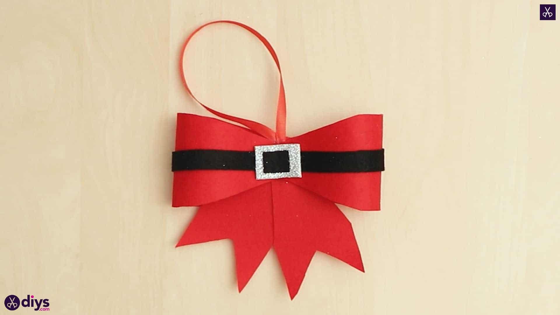 Diy christmas bow ornament
