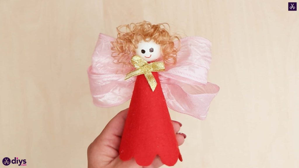 Diy christmas doll ornament for tree craft