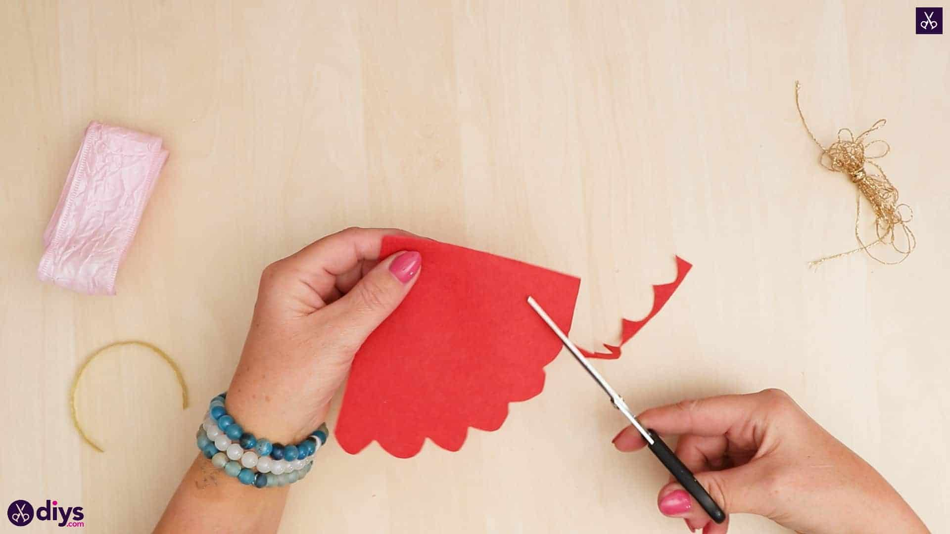 Diy christmas doll ornament for tree cut paper