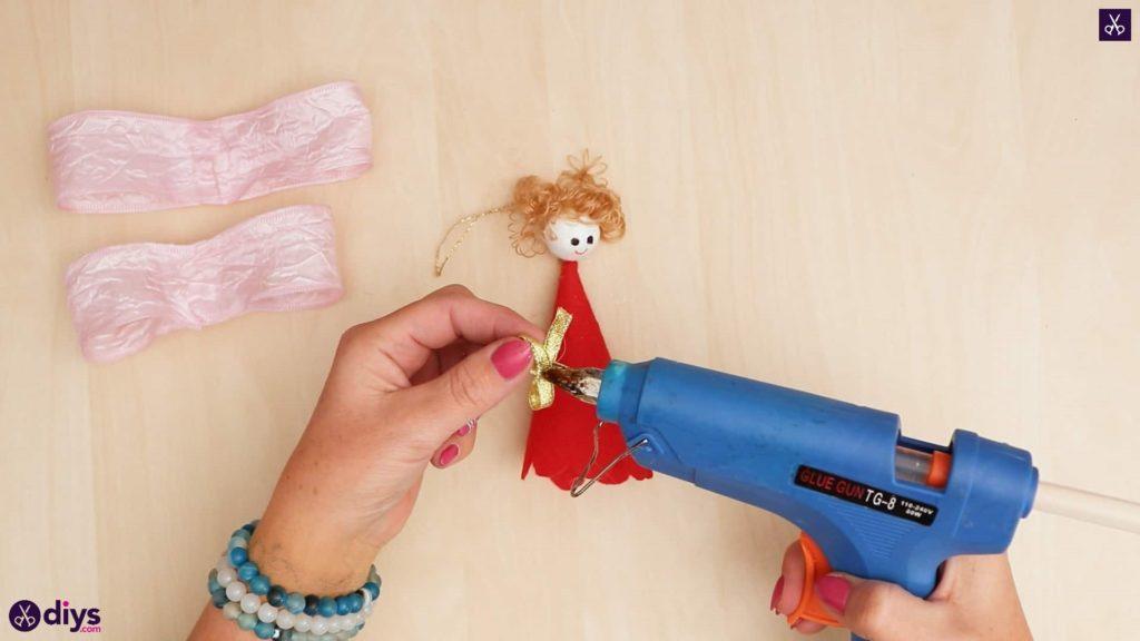 Diy christmas doll ornament for tree glue