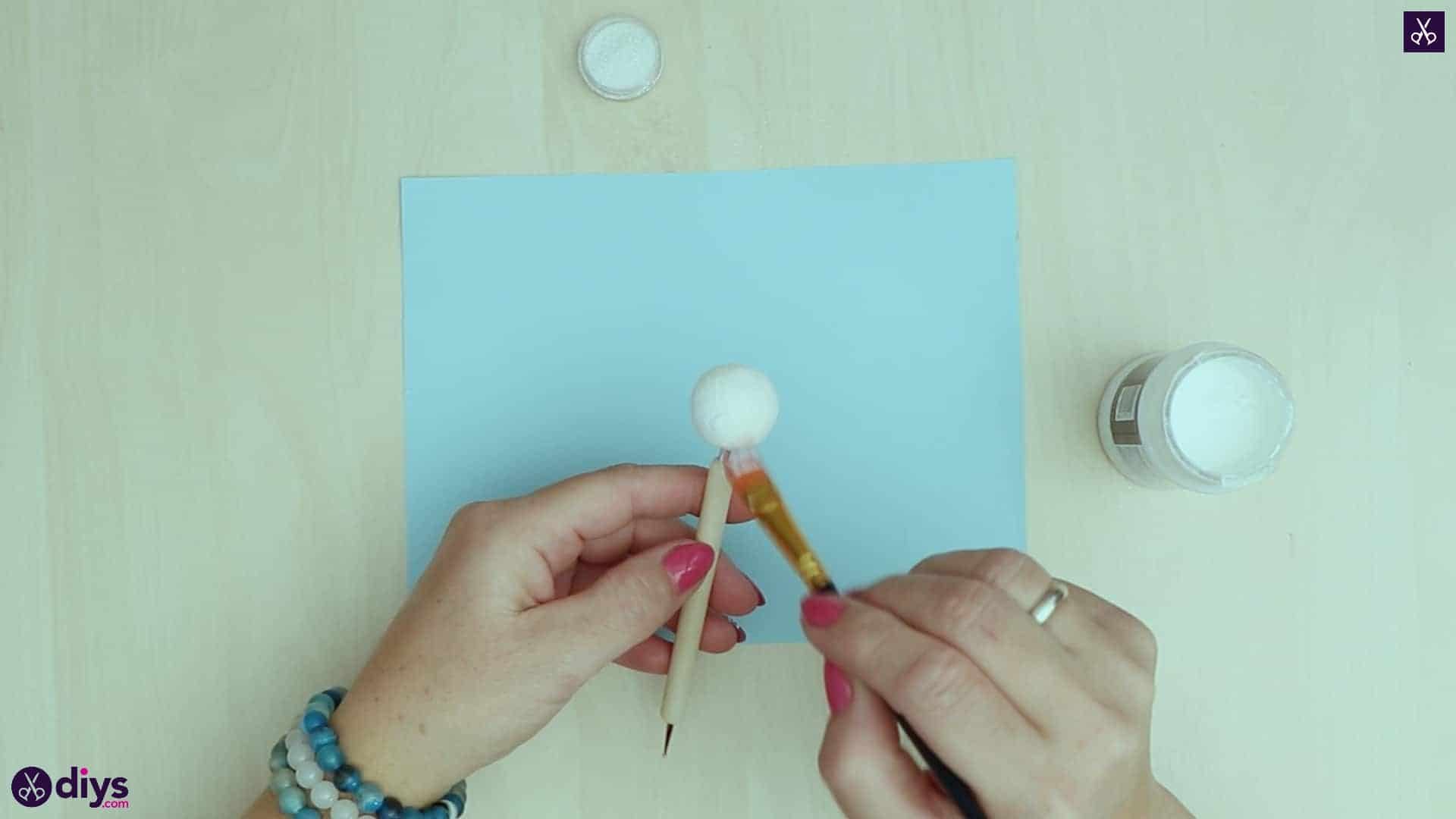 Diy christmas doll ornament for tree paint