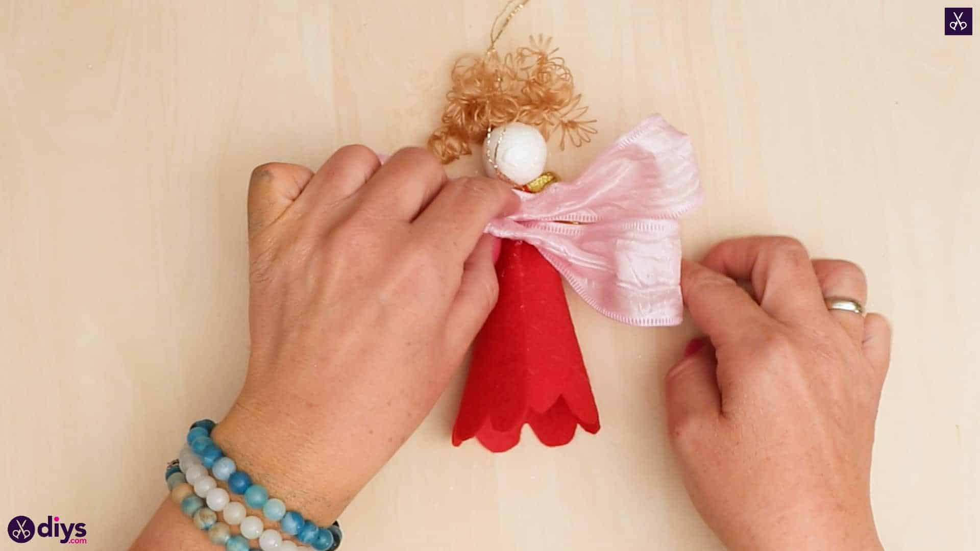 Diy christmas doll ornament for tree simple