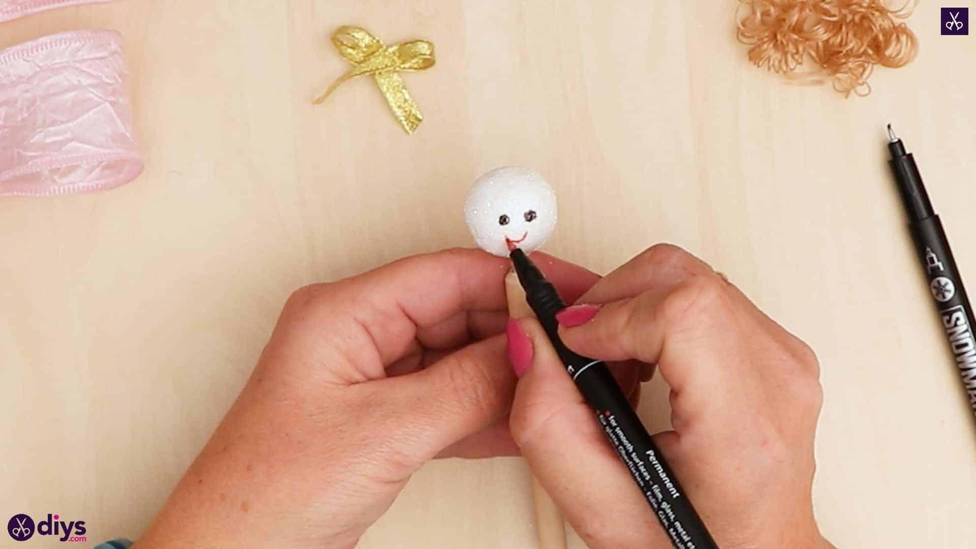 Diy christmas doll ornament for tree stencil