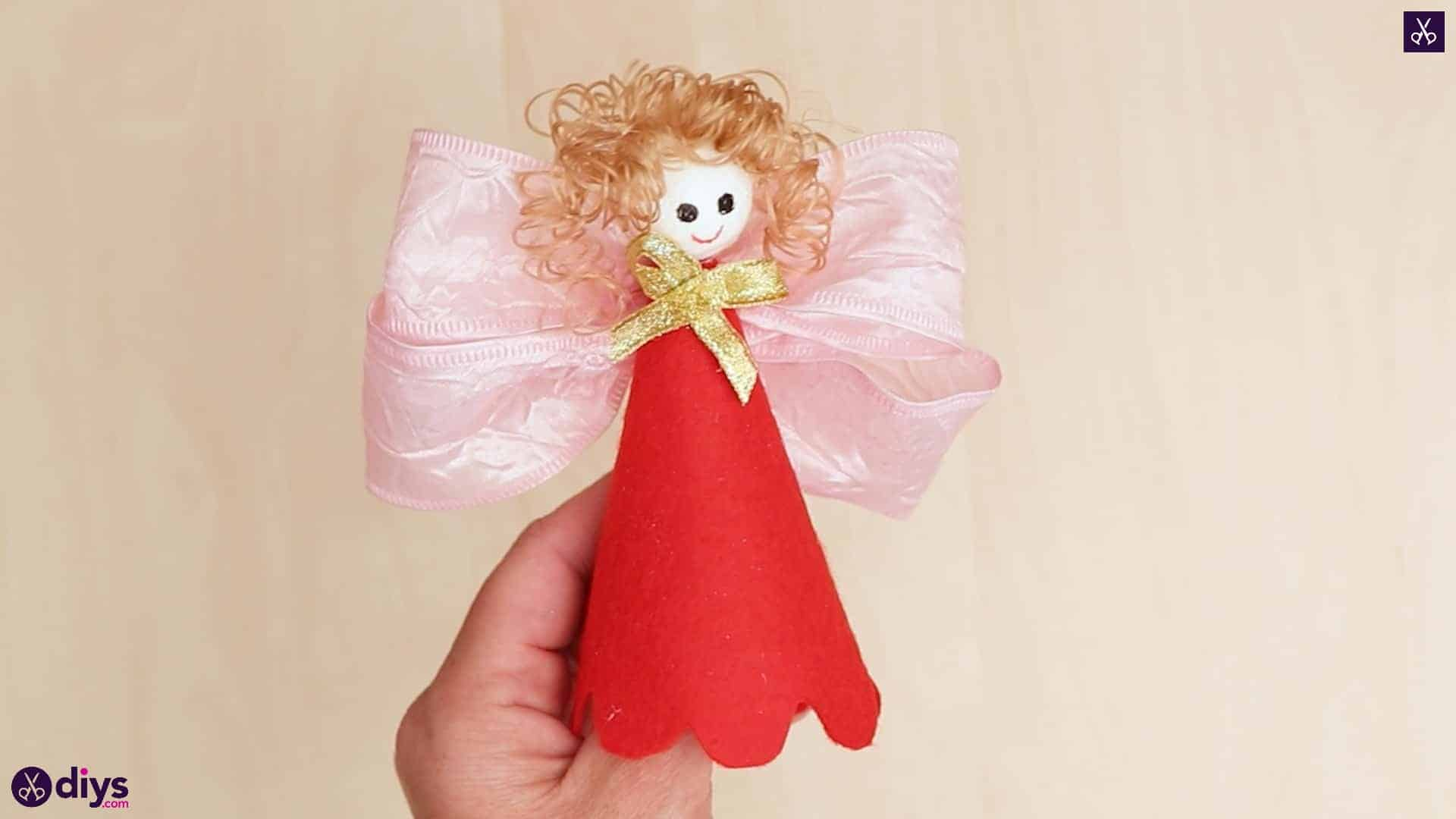 Diy christmas doll ornament for tree