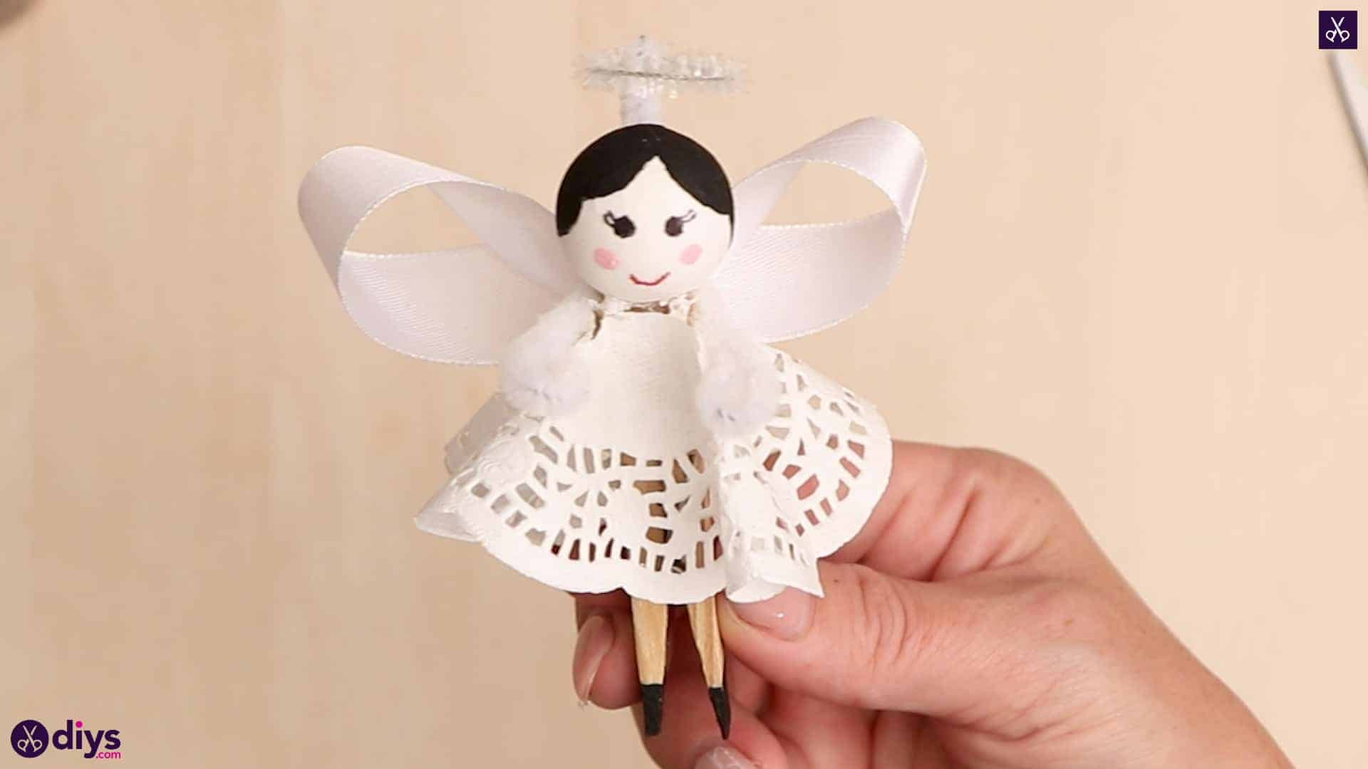 Diy clothespin angel ornament for christmas tree