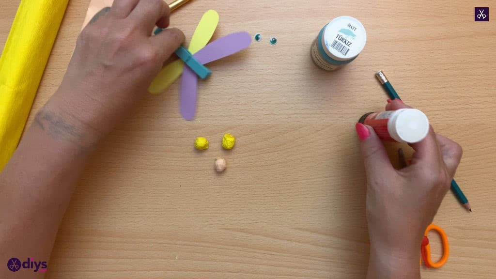 Diy clothespin dragonfly for kids attach
