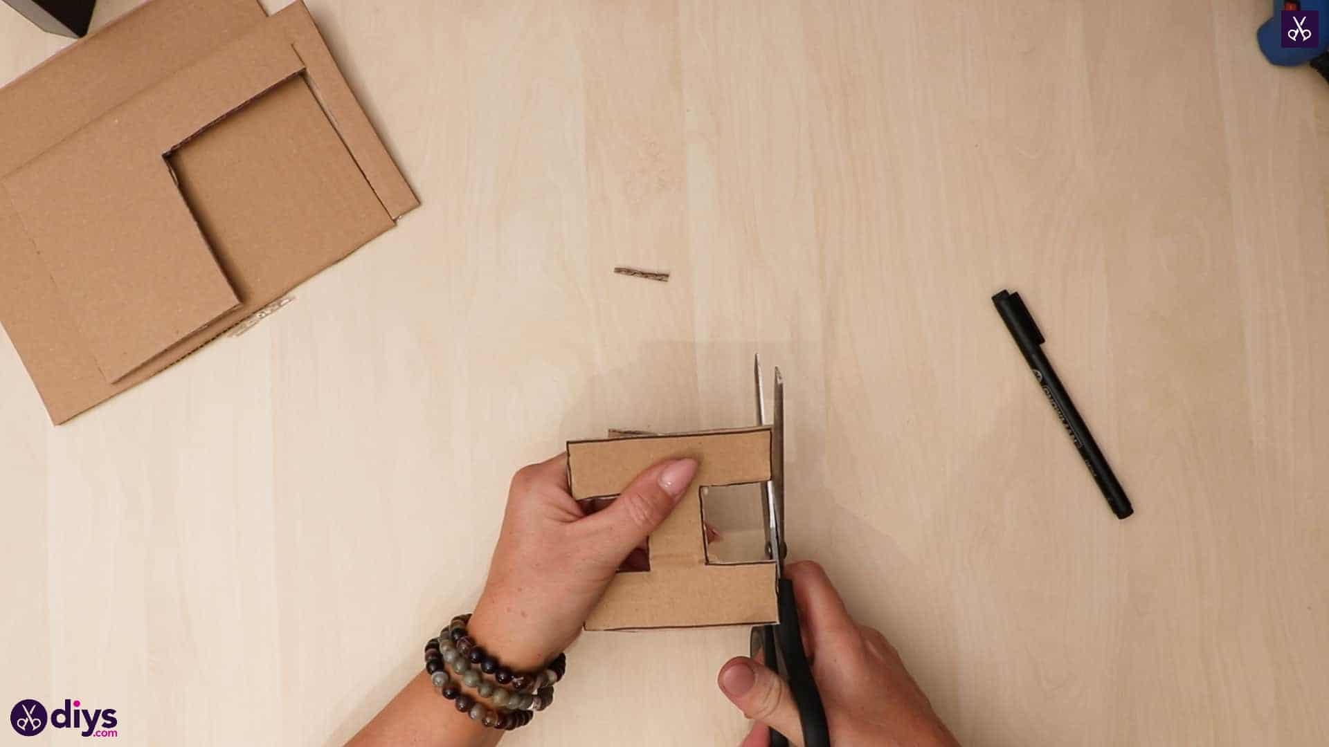 Diy concrete letters cut cardboard
