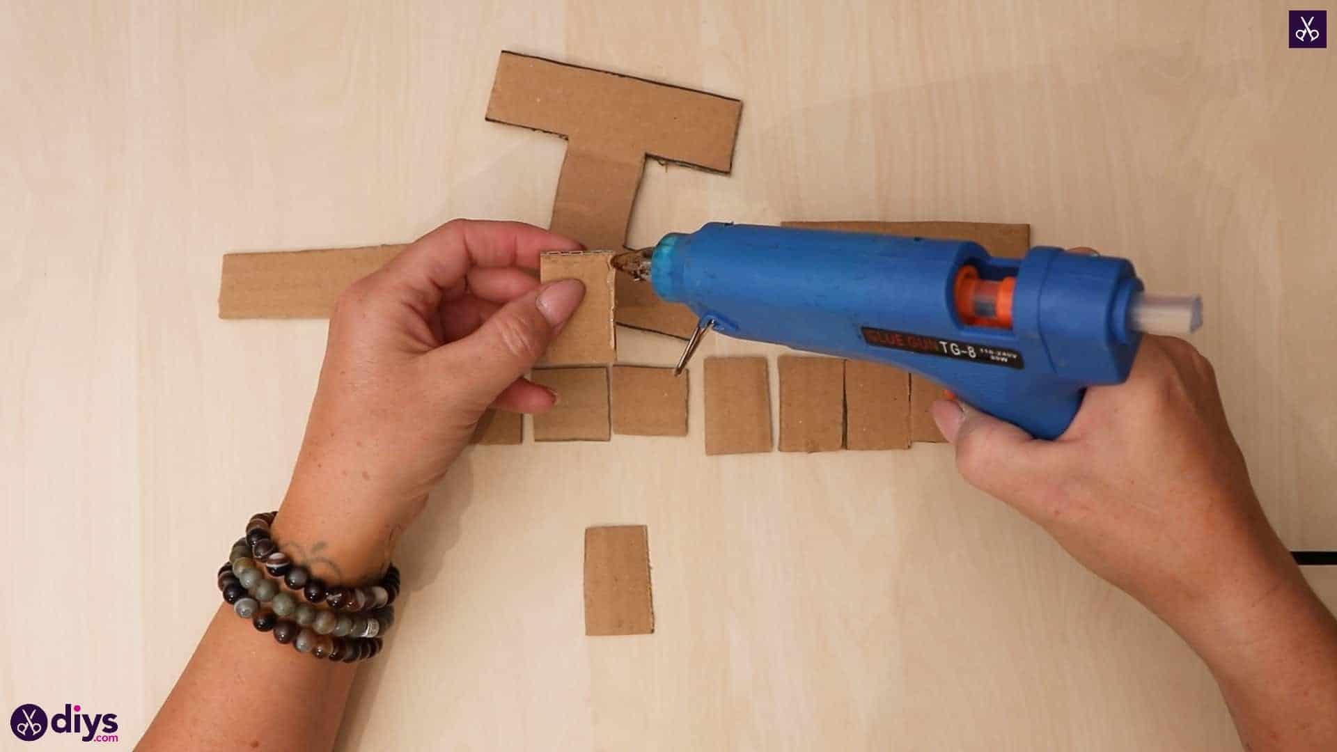 Diy concrete letters glue