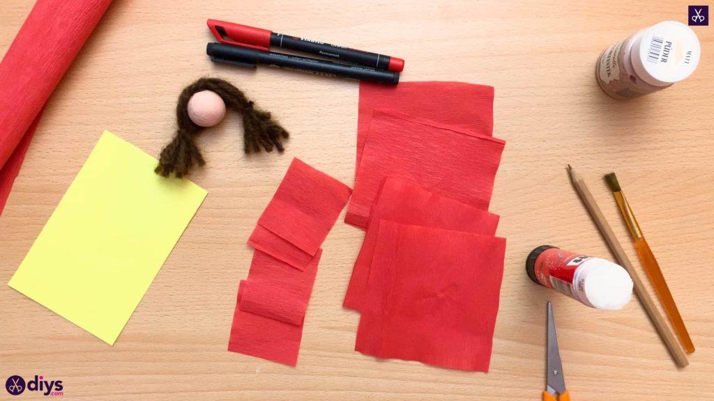 Diy pencil puppet crepe paper
