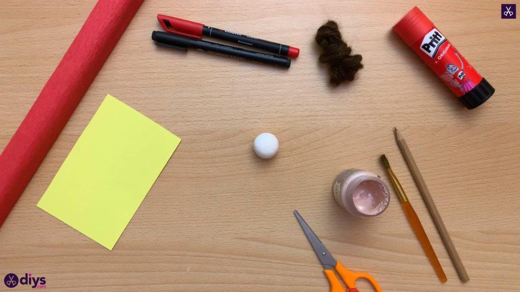 Diy pencil puppet materials